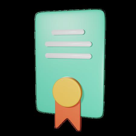 License 3D Illustration