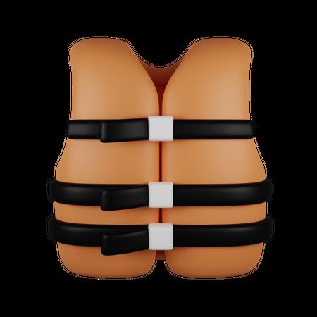 Life Vest 3D Illustration