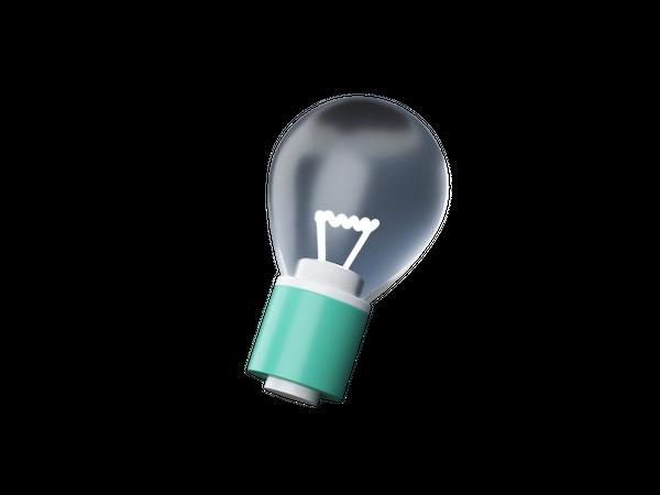 Light bulb 3D Illustration