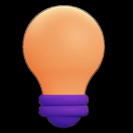 Lightbulb 3D Illustration