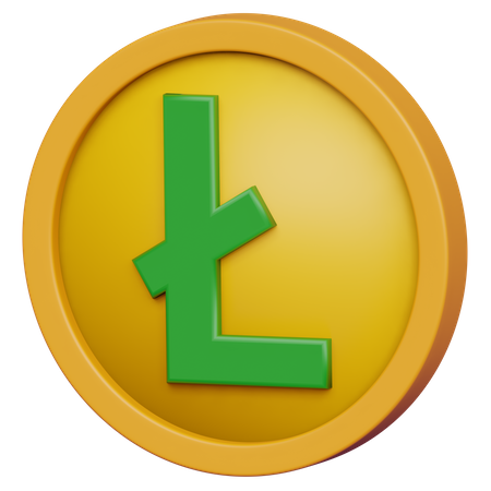Lite Coin 3D Illustration