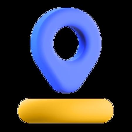 Location Pin 3D Illustration