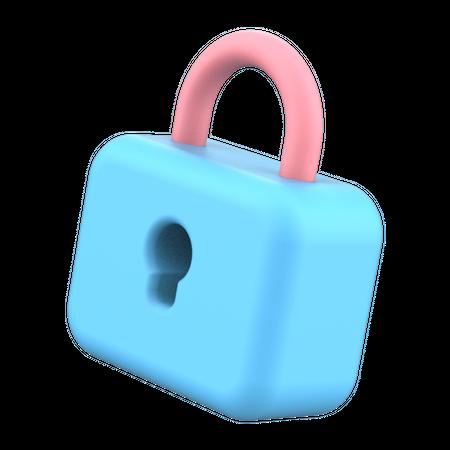 Lock 3D Illustration
