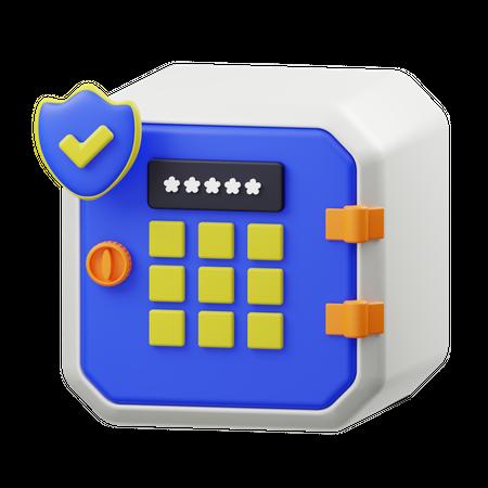 Locker Password 3D Illustration
