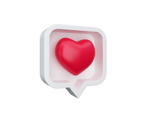 Love message 3D Illustration