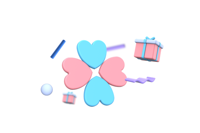 Lovely gift 3D Illustration