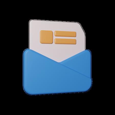 Mail 3D Illustration