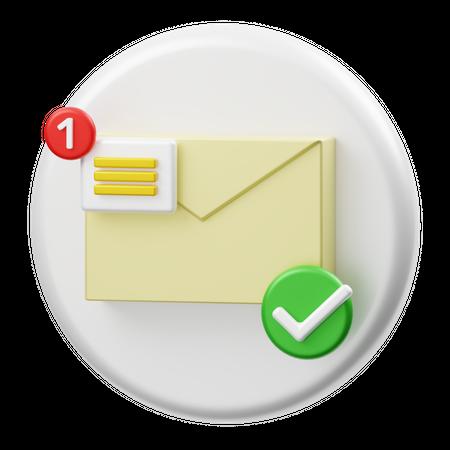 Mail Notification 3D Illustration