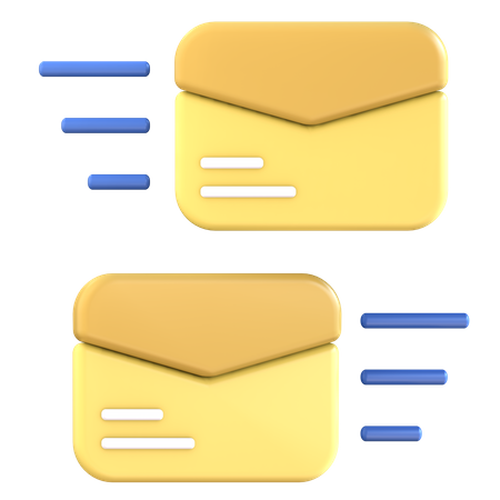 Mail Sent 3D Illustration
