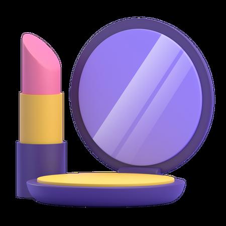 Makeup Kit 3D Illustration