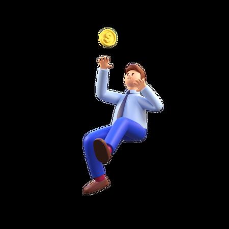 Male investor 3D Illustration