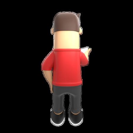 Man using mobile 3D Illustration