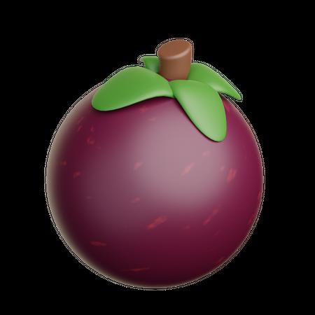 Mangosten 3D Illustration