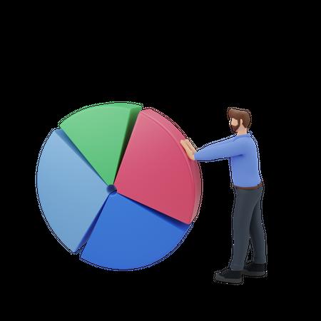 Marketing analytics 3D Illustration
