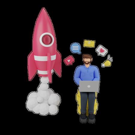 Marketing boost sales 3D Illustration