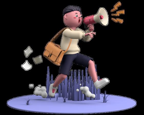 Marketing Campaign 3D Illustration