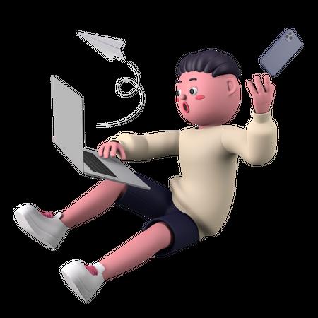 Marketing manager 3D Illustration