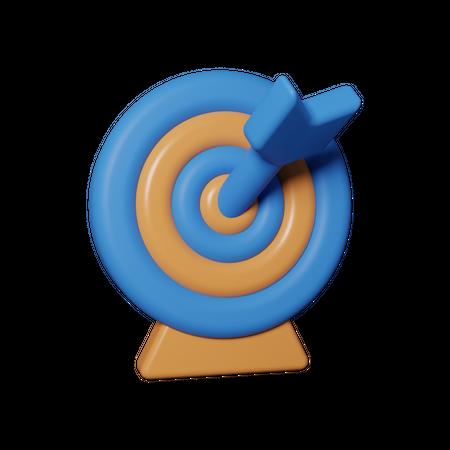 Marketing target 3D Illustration