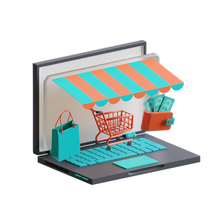 Marketplace 3D Illustration