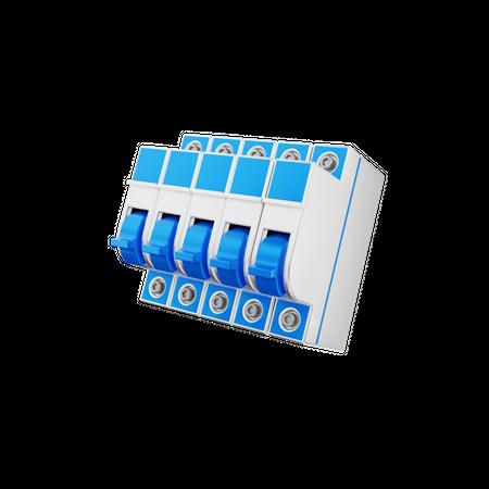 Mcb Switch 3D Illustration