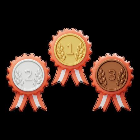 Medal 3D Illustration