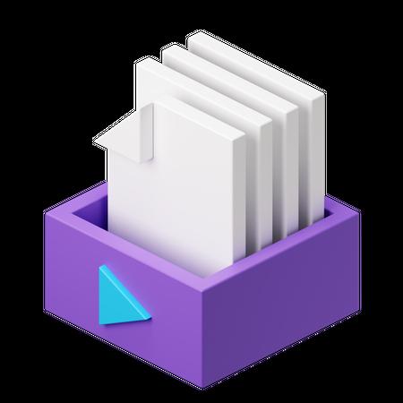 Media storage 3D Illustration