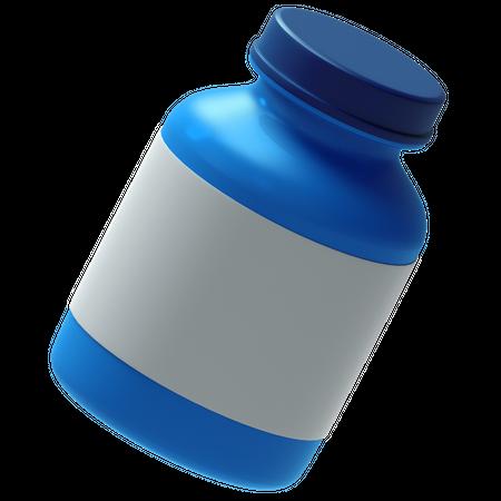 Medicine container 3D Illustration