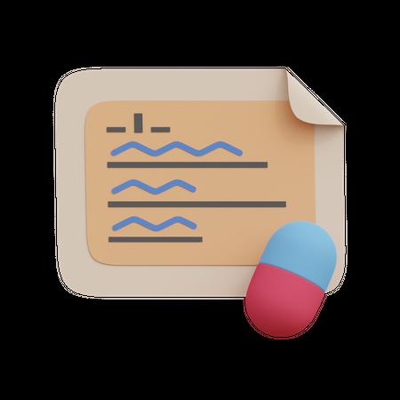 Medicine Prescription 3D Illustration