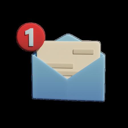 Message Notification 3D Illustration