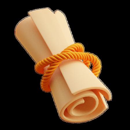 Message Scroller 3D Illustration