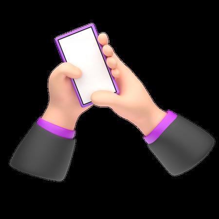 Message Typing 3D Illustration