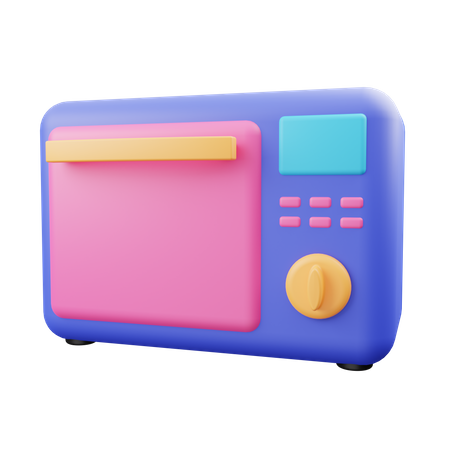 Microwave 3D Illustration
