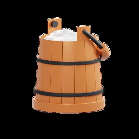 Milk Bucket 3D Illustration