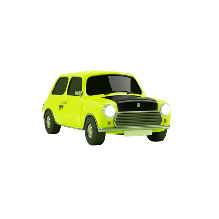 Mini Car 3D Illustration