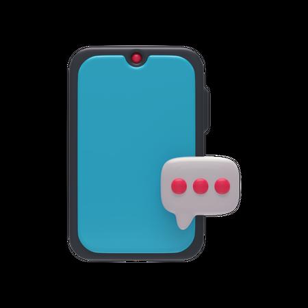 Mobile Chat 3D Illustration