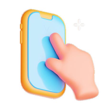 Mobile gesture 3D Illustration