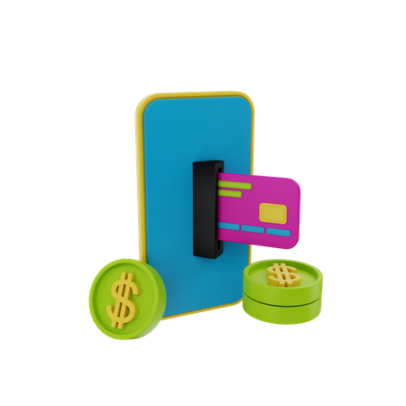 Mobile Payment 3D Illustration