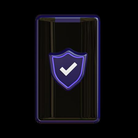 Mobile Security 3D Illustration