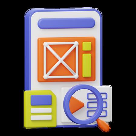Mobile Seo 3D Illustration