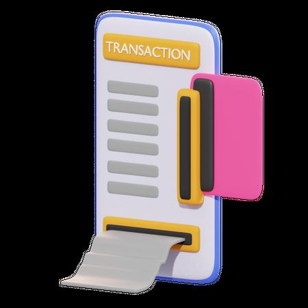 Mobile Transaction 3D Illustration