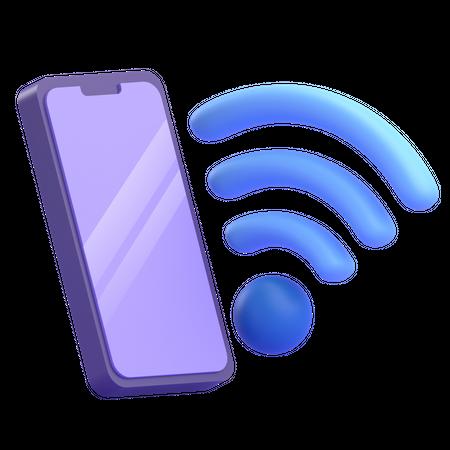 Mobile WIFI 3D Illustration