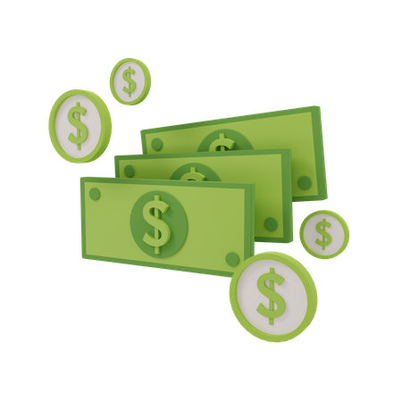 Money 3D Illustration