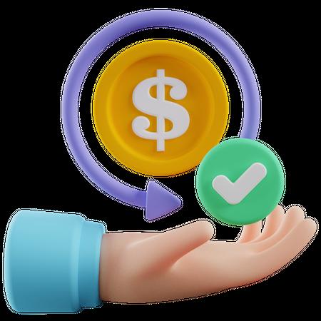 Money Back Guarantee 3D Illustration