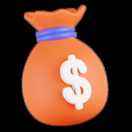 Money Bag 3D Illustration