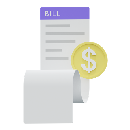 Money Bill 3D Illustration