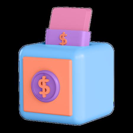 Money Deposit 3D Illustration