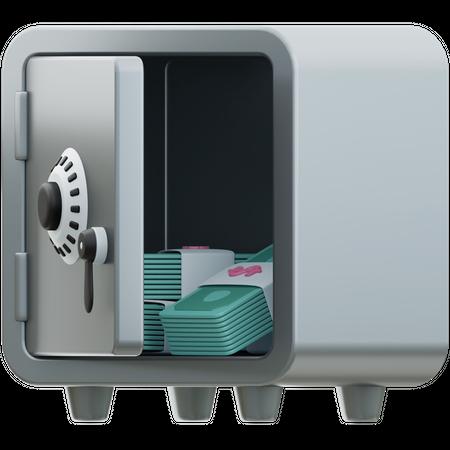 Money Locker 3D Illustration