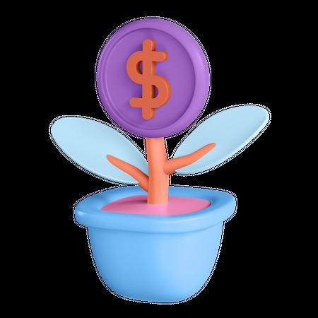 Money Plant 3D Illustration