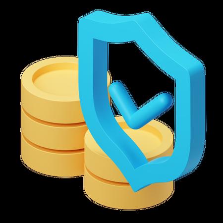 Money Protection 3D Illustration