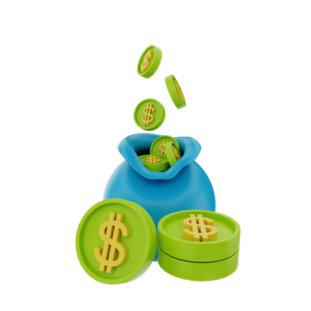 Money Saving 3D Illustration